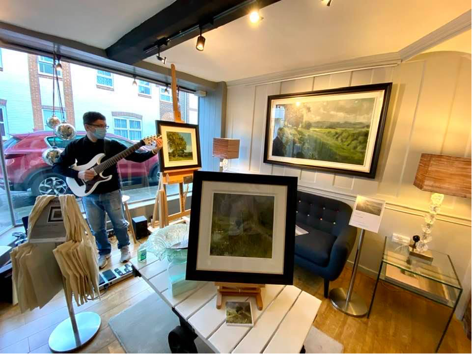 Music playing in the gallery