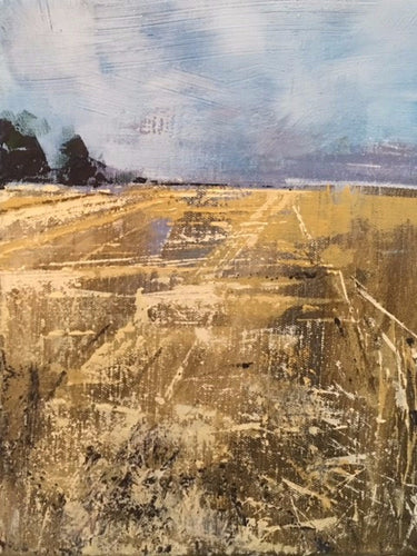 Cornfields over Downton Original - Martin Memory Art Gallery