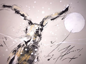 Winter Hare Original - Martin Memory Art Gallery