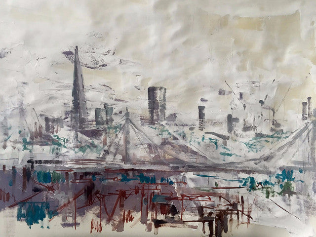 London Skyline from Chelsea Original by Martin Memory Art Gallery