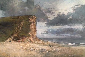 West Bay Cliffs Original - Martin Memory Art Gallery