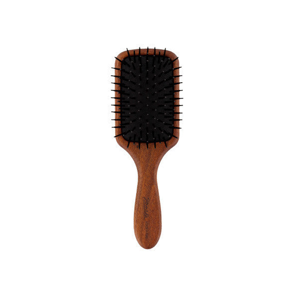 Bobinga Wood Mini Paddle Hairbrush-Brushes-Cherry Birch