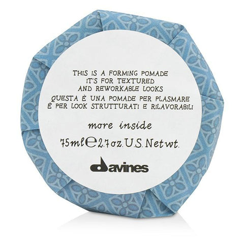 Davines More Inside This Is A Forming Pomade (For Textured and Reworkable Looks) 75ml/2.7oz-Haircare-Cherry Birch