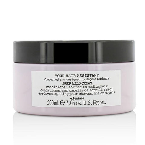 Davines Your Hair Assistant Prep Mild Cream Conditioner (For Fine to Medium Hair) 200ml/7.05oz-Haircare-Cherry Birch