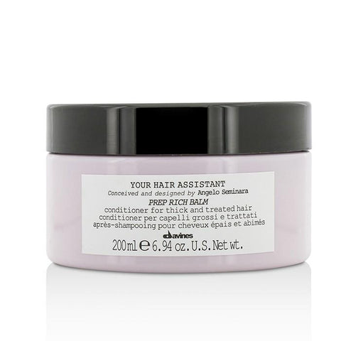 Davines Your Hair Assistant Prep Rich Balm Conditioner (For Thick and Treated Hair) 200ml/6.94oz-Haircare-Cherry Birch