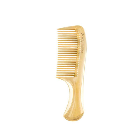 Gold Compact Handle Comb-Combs-Cherry Birch