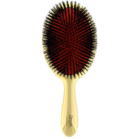 Gold Paddle Hairbrush with Pure Boar Bristle-Brushes-Cherry Birch