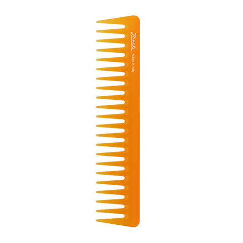 Janeke Colour Orange Wide Tooth Comb-Combs-Cherry Birch