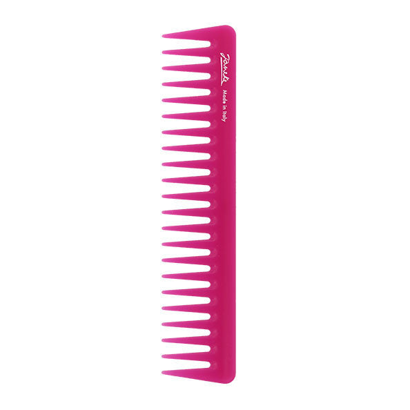 Janeke Colour Pink Wide Tooth Comb-Combs-Cherry Birch