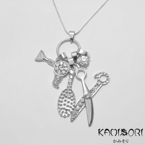 KAMISORI Hairdresser Charm Necklace-Scissor Accessories-Cherry Birch
