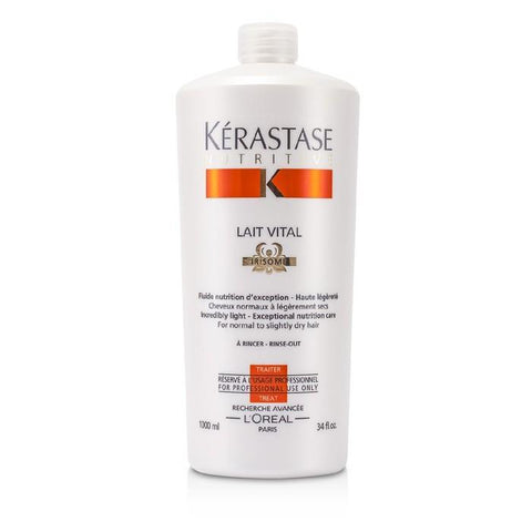 Kerastase Nutritive Lait Vital Incredibly Light - Exceptional Nutrition Care (For Normal to Slightly Dry Hair) 1000ml/34oz-Haircare-Cherry Birch