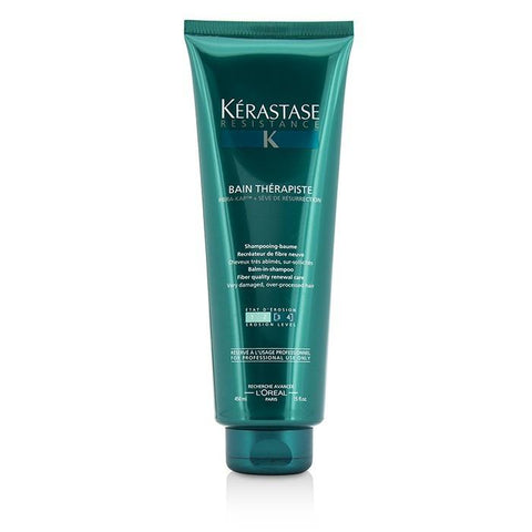 Kerastase Resistance Bain Therapiste Balm-In -Shampoo Fiber Quality Renewal Care (For Very Damaged, Over-Porcessed Hair) 450ml/15oz-Haircare-Cherry Birch