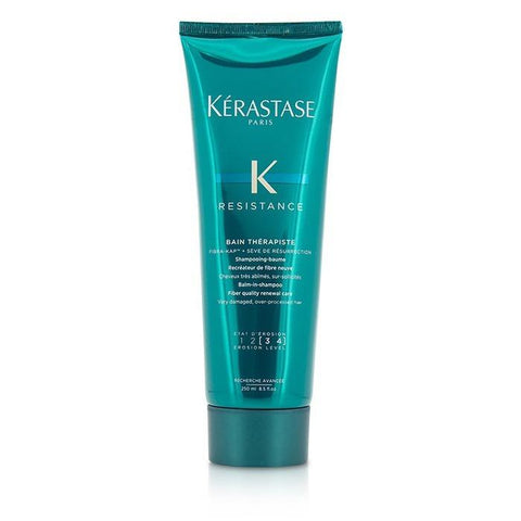Kerastase Resistance Bain Therapiste Balm-In-Shampoo Fiber Quality Renewal Care - For Very Damaged, Over-Processed Hair (New Packaging) 250ml/8.5oz-Haircare-Cherry Birch