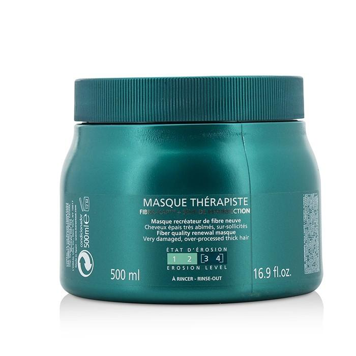 Kerastase Resistance Masque Therapiste Fiber Quality Renewal Masque (For Very Damaged, Over-Processed Thick Hair) 500ml/16.9oz-Haircare-Cherry Birch