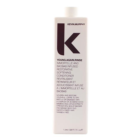 Kevin Murphy Young.Again.Rinse (Immortelle and Baobab Infused Restorative Softening Conditioner - To Dry, Brittle or Damaged Hair) 1000ml/33.6oz-Haircare-Cherry Birch
