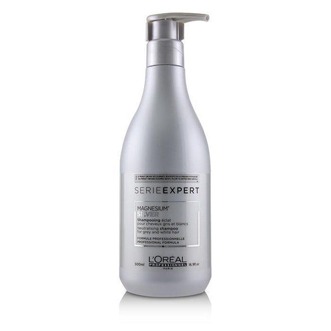 L'Oreal Professionnel Serie Expert - Silver Magnesium Neutralising Shampoo (For Grey and White Hair) 500ml/16.9oz-Haircare-Cherry Birch