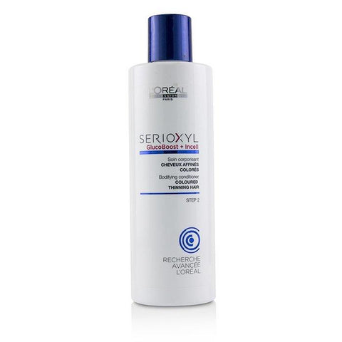 L'Oreal Professionnel Serioxyl GlucoBoost + Incell Bodifying Conditioner (Coloured Thinning Hair) 250ml/8.45oz-Haircare-Cherry Birch