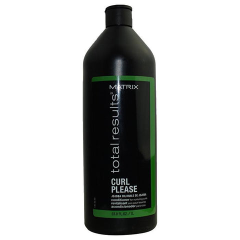 Matrix Total Results Curl Please Jojoba Oil Conditioner (For Nurturing Curls) 1000ml/33.8oz-Haircare-Cherry Birch