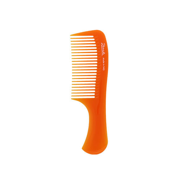 Orange Compact Handle Comb-Combs-Cherry Birch