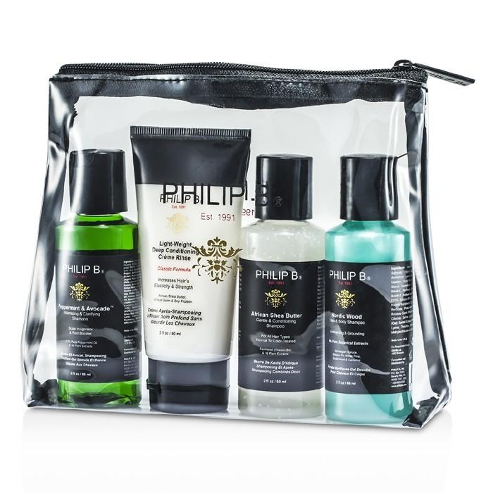 Philip B Travel Kit (Classic Formula) 4pcs-Haircare-Cherry Birch