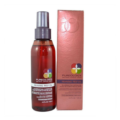 Pureology Reviving Red Oil Illuminating Caring Oil 125ml-Haircare-Cherry Birch