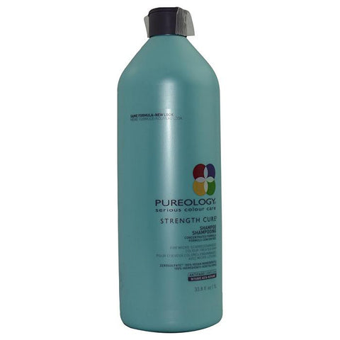 Pureology Strength Cure Shampoo (For Micro-Scarred/Damaged Colour-Treated Hair) 1000ml/33.8oz-Haircare-Cherry Birch