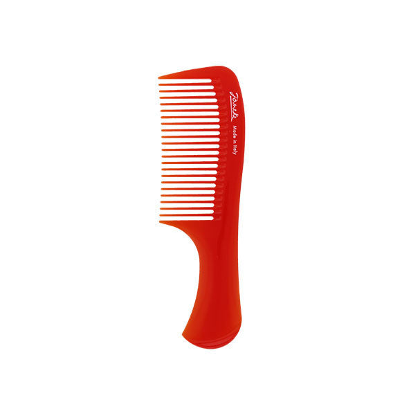 Red Compact Handle Comb-Combs-Cherry Birch