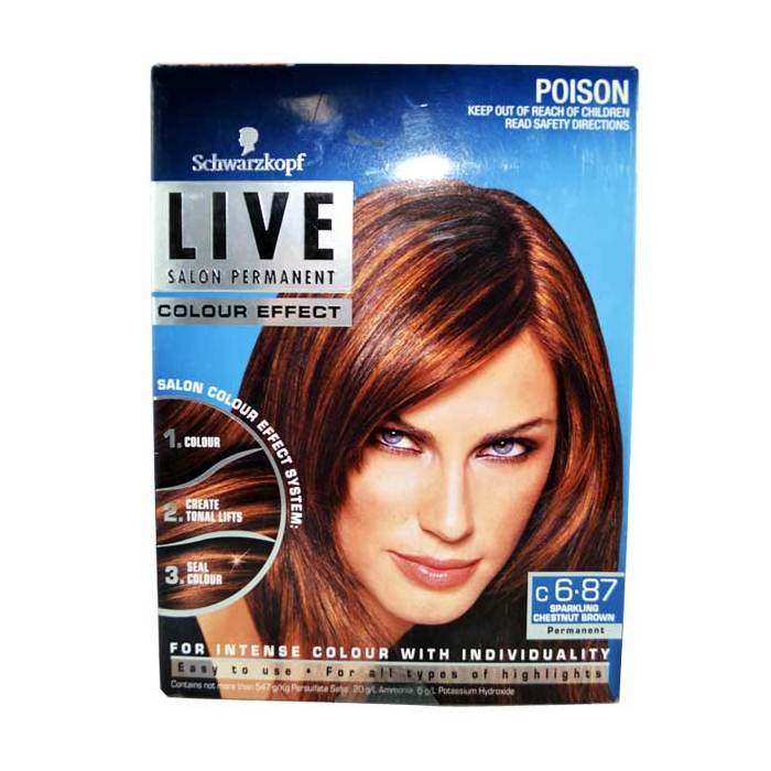 Schwarzkopf Live Chestnut Brown 6.87-Haircare-Cherry Birch