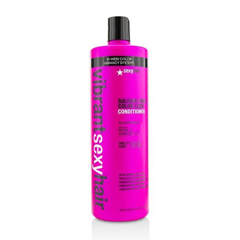 Sexy Hair Concepts Vibrant Sexy Hair Color Lock Color Conserve Conditioner 1000ml/33.8oz-Haircare-Cherry Birch