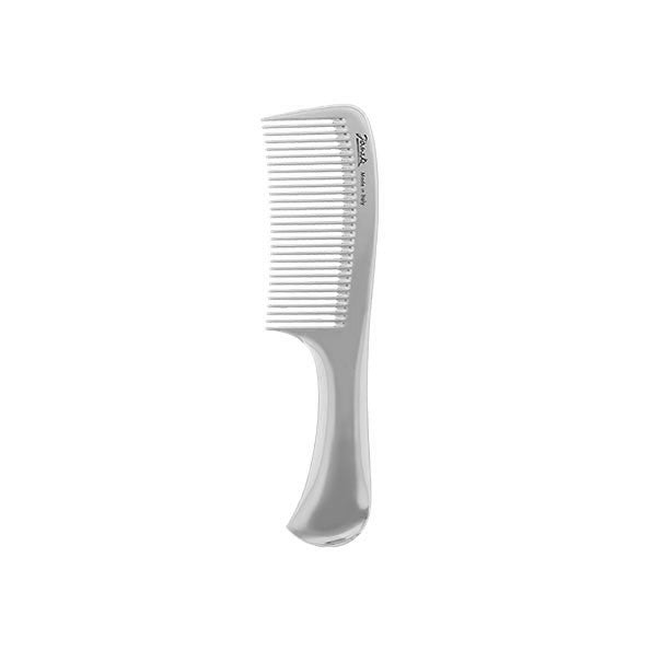 Silver Compact Handle Comb-Combs-Cherry Birch
