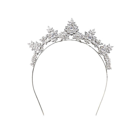 Stephanie Browne Loren Diademe-Accessories-Cherry Birch