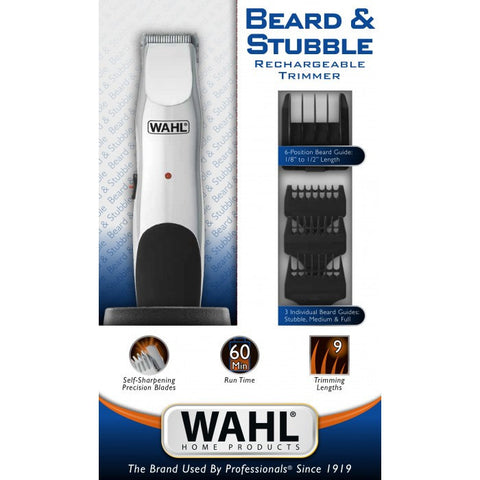 Wahl Beard And Stubble Rechargeable Trimmer-Men's Grooming-Cherry Birch