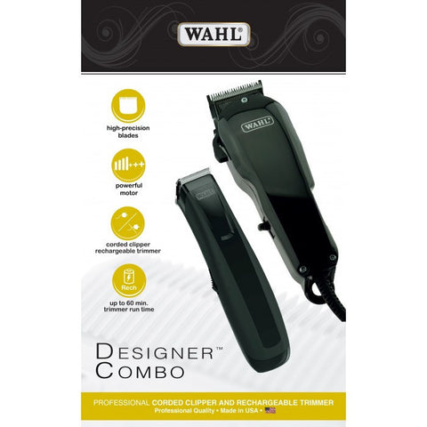 Wahl Designer Combo Professional Corded Clipper And Trimmer-Men's Grooming-Cherry Birch