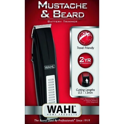 Wahl Mustache & Beard Battery Trimmer-Men's Grooming-Cherry Birch