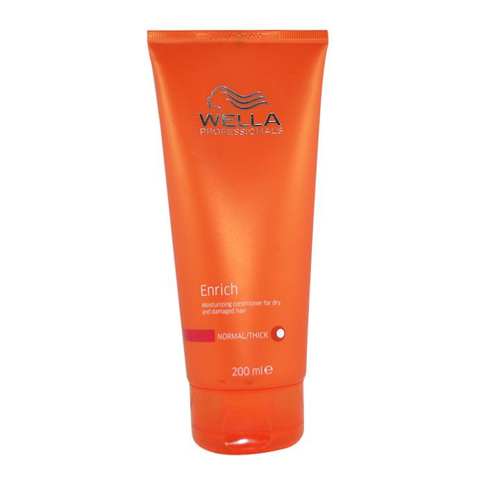 Wella Enrich Moisturizing Conditioner For Dry & Damaged Hair (Normal/ Thick) 200ml/6.7oz-Haircare-Cherry Birch