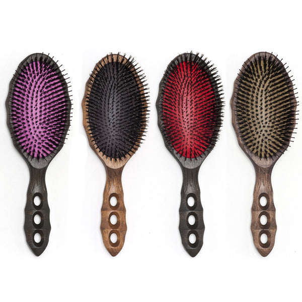 YS Park Soft Cushion Tortoise Hairbrush - Pure Boar-Brushes-Cherry Birch