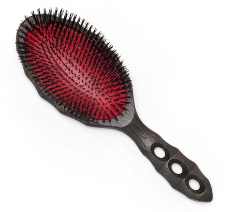 YS Park Tortoise Hairbrush - Pure Boar-Brushes-Cherry Birch