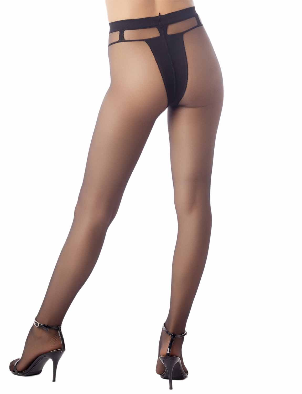 Women's Darkened Brief Pantie Everyday 5 DEN Ultra Sheer Tights Pantyhose, Size: One Size, Black