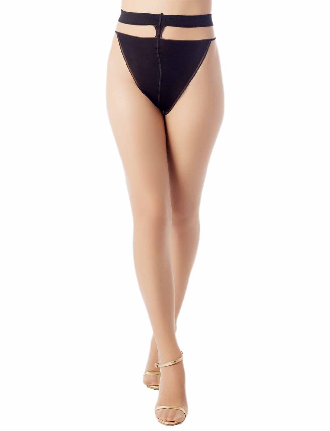 Women's Darkened Brief Pantie Everyday 5 DEN Ultra Sheer Tights Pantyhose, Size: One Size, Beige