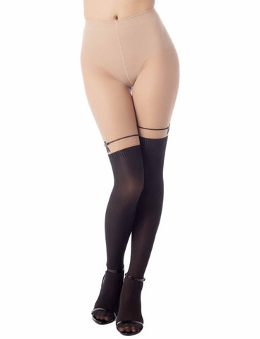 iB-iP Women's Garter Thigh-High Hot 50 DEN Slightly transparent Tights Pantyhose