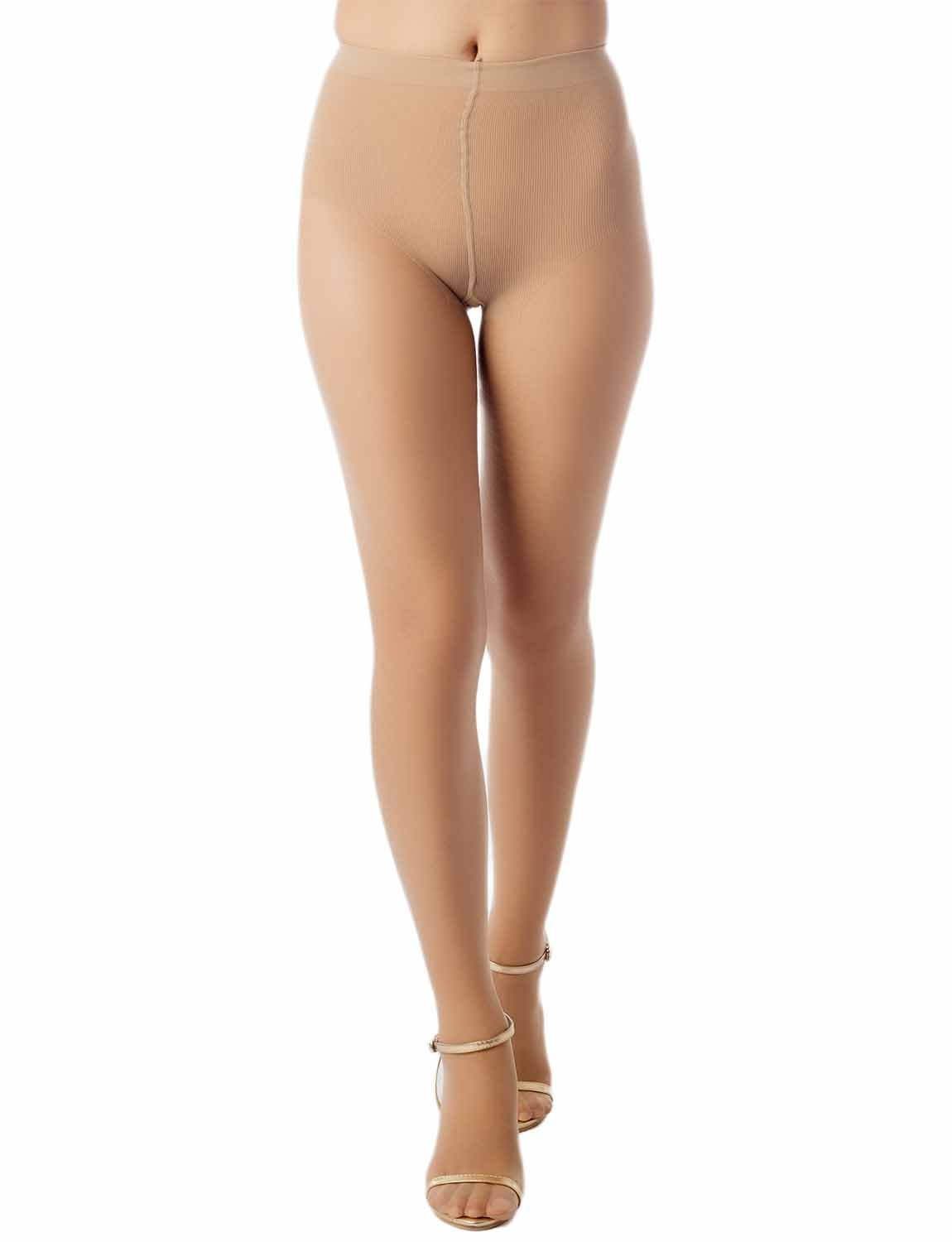 Women's Fish Scale Sheers Leg Darkened 5 DEN Ultra Sheer Tights Pantyhose, Size: One Size, Beige