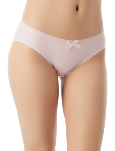 Women's Modal Briefs Underwear Soft Cotton Comfort Low Rise Bikini Panty, Size: L, Light Pink