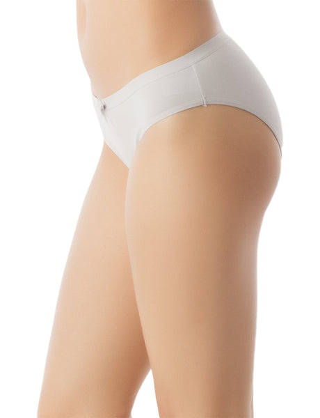 Women's Modal Briefs Underwear Soft Cotton Comfort Low Rise Bikini Panty, Size: L, Light Grey