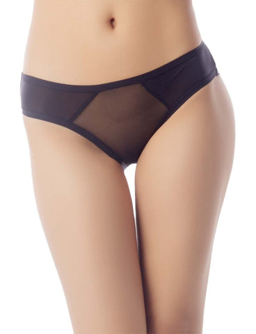 iB-iP Women's Sheer See-Through Underwear Fashionable Mesh Low Rise Brief Panty