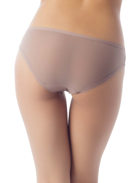 Women's Sheer See-Through Underwear Fashionable Mesh Low Rise Brief Panty, Size: M, Dark Brown