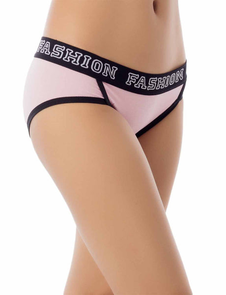 Women's Comfort Soft Cotton Sports Fashion Briefs Low Rise Hipster Panty, Size: L, Pink