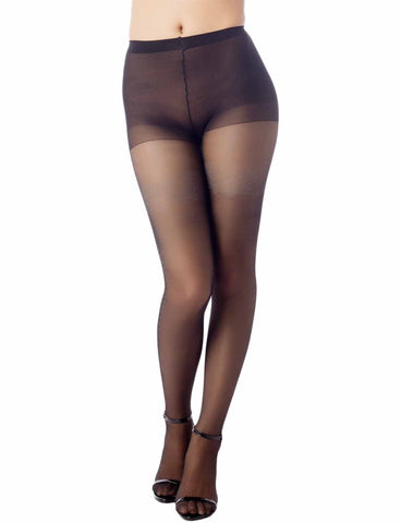 iB-iP Women's Retro Stretchy Seamless Hosiery 5 DEN Ultra Sheer Tights Pantyhose