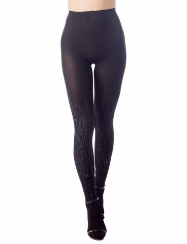 iB-iP Women's Hosiery Art Patterned Seamless 5 DEN Ultra Sheer Pantyhose Tights