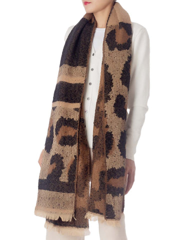 iB-iP Women's Blanket Oversized Large Shawl Wraps Leopard Prints Wrap Pashmina