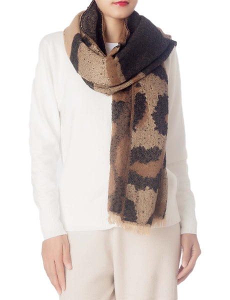 Women's Blanket Oversized Large Shawl Wraps Leopard Prints Wrap Pashmina, Size: One Size, Brown